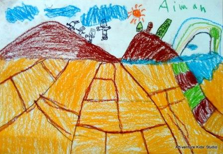 Lukisan Pemandangan Oleh Kanak Kanak Art Venture Kids Studio