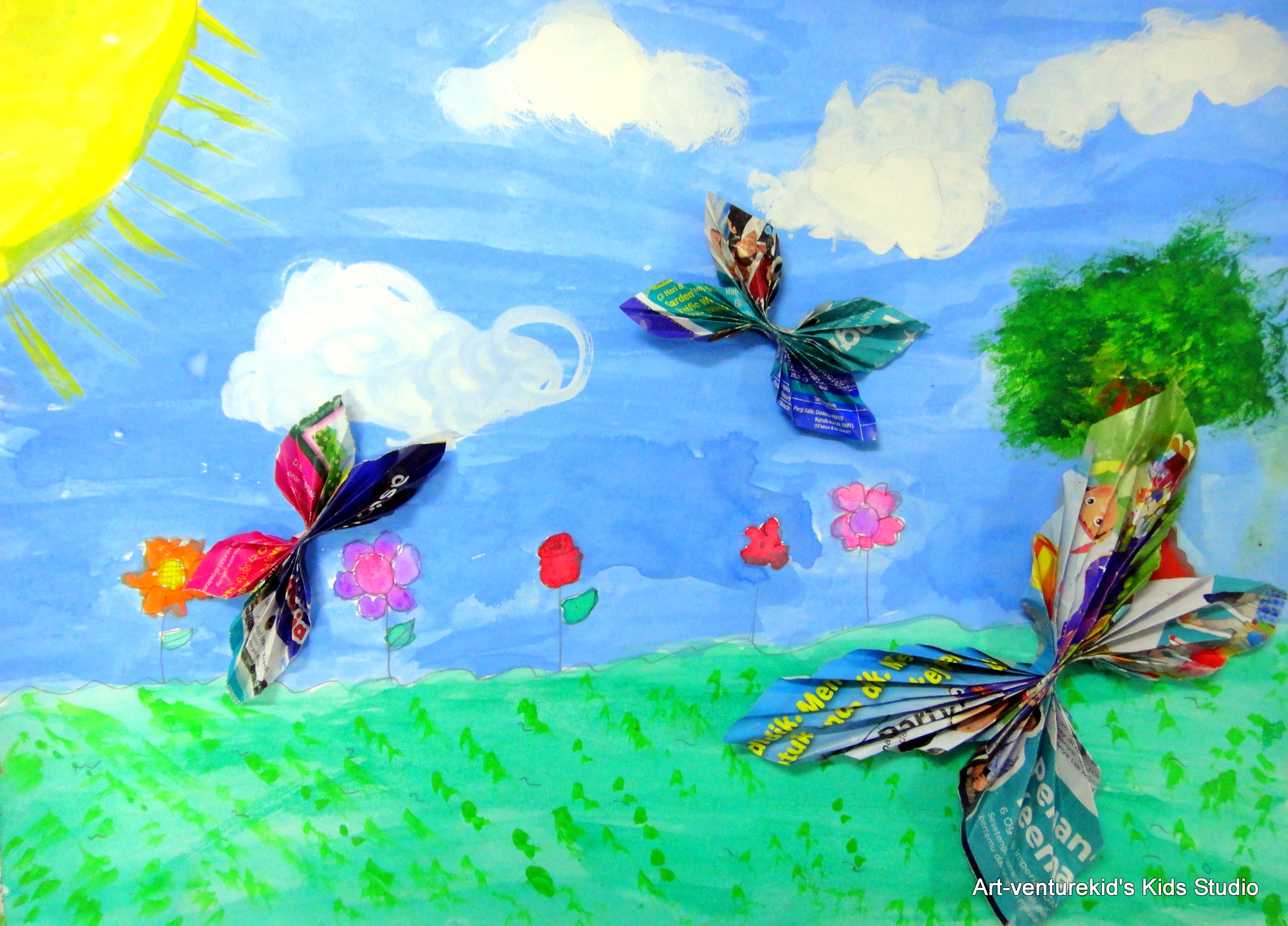 Lukisan Rama Rama Di Taman Bunga Cikimm Com