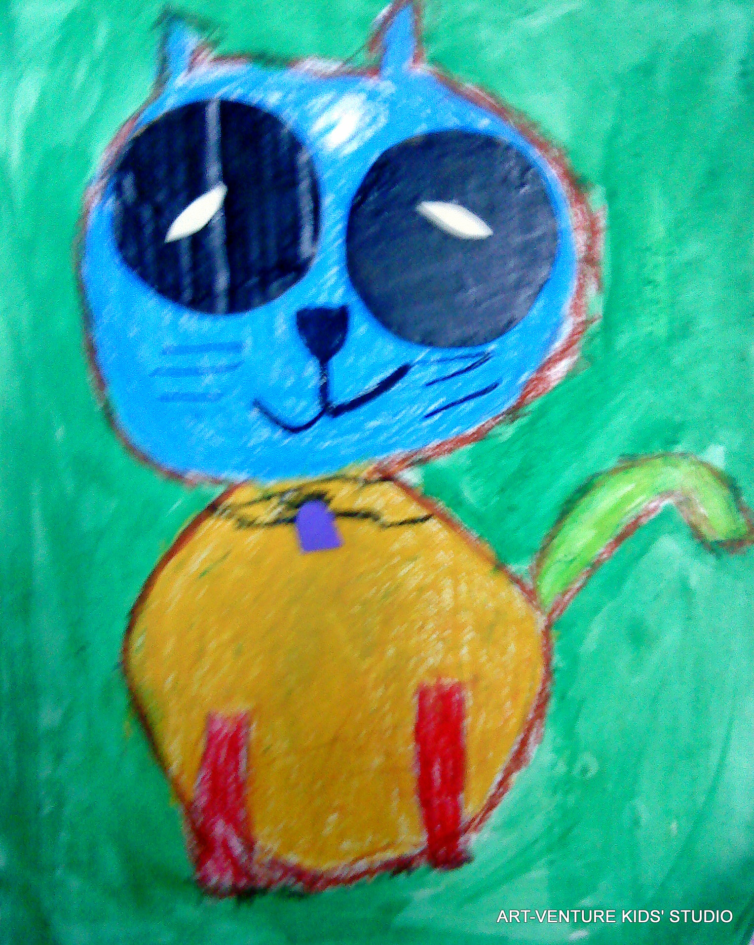 Lukisan Kucing Kanak Art Venture Kids Studio 02 Dsc03128